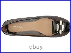Women's Michael Kors Gloria Moc Mocassin Brown Mini MK Logo PVC Sz 9.5 NIB