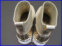 Women's Michael Kors Skyler Knit-top Booties Sock Designer Sneakers Gold SZ 8.5M