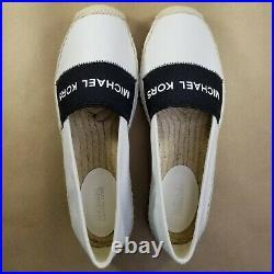Women's Michael Kors Slip-On Flats Espadrilles Shoes Size6.5 White/Black New