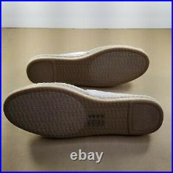 Women's Michael Kors Slip-On Flats Espadrilles Shoes Size6 White/Black New MK