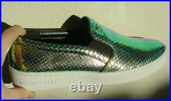 Women's Michael Kors Sneaker Slip On Shoe Gold Black Keaton Snake Sz 6 8 8.5 NIB