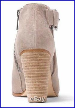 Women's Shoes Michael Kors ADAMS BOOTIE Ankle Boots Cutouts Suede Cement