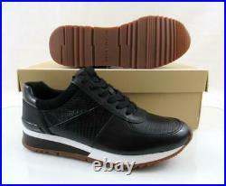 Women's Shoes Michael Kors Allie Wrap Trainer Sneakers MK Logo Black Size 8.5