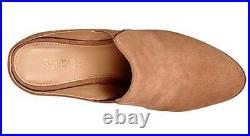 Women's Shoes Michael Kors Braden Closed Toe Mule Clogs Heels Suede Cashew
