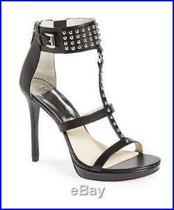 Women's Shoes Michael Kors CELENA SANDAL Open Toe Platform Studs Leather Black