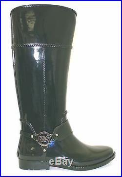 Women's Shoes Michael Kors FULTON HARNESS RAINBOOT Knee High Rubber HUNTER GREEN