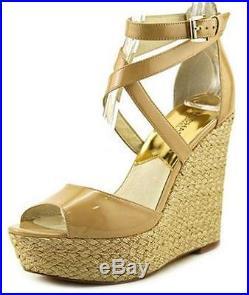 Women's Shoes Michael Kors GABRIELLA WEDGE Platform Rope-Wrapped Heel NUDE