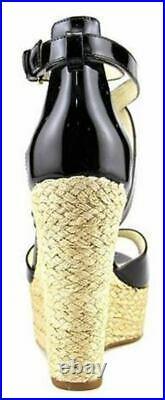 Women's Shoes Michael Kors Gabriella Wedge Platform Espadrille Heel Black US 7