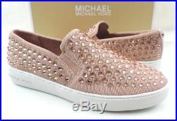 Women's Shoes Michael Kors KEATON SLIP ON Sneakers Comfort Ballet Pink Size 7.5