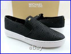 Women's Shoes Michael Kors Kane Slip On Sneakers MK Logo Black Leather Size 7