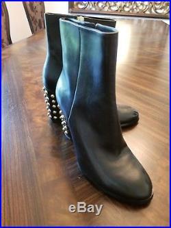 Women's Shoes Michael Kors LINDEN BOOTIE Studded Ankle Boots black Size 7.5