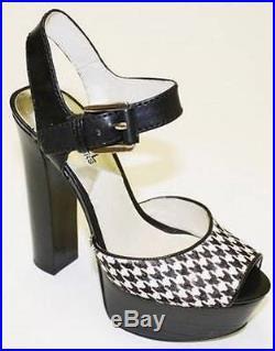 Women's Shoes Michael Kors LONDON OPEN TOE Platform Dress Sandals Houndstooth
