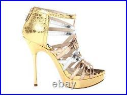 Women's Shoes Michael Kors MADDIE PLATFORM Stiletto Strap Sandals Rose Gold