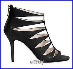 Women's Shoes Michael Kors MAVIS OPEN TOE Pumps Cutout Sandals Heels Black