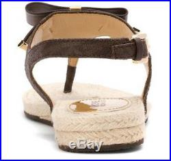 Women's Shoes Michael Kors MEG THONG Sandals PVC Brown MK Logo US 6