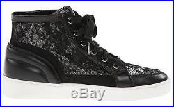 Women's Shoes Michael Kors PHILIPPA HIGH TOP Fashion Sneakers Lace Detail Black