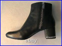 Women's Shoes Michael Kors Sabrina Bootie Ankle Boots Leather Black Size 7M NIB