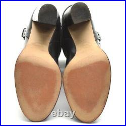 Womens Michael Kors Fulton Signature Logo Boots 8 M Black High Heel Bootie Shoes
