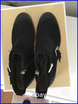 Womens Shoes Michael Kors Adams Monk Strap Booties Suede Black Size 7 $225