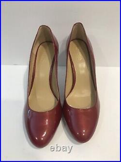 Womens Shoes Michael Kors Ashby Flex Pump Heels Cherry Red Patent Size 8 M