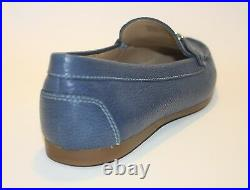 Womens Shoes Michael Kors SUKI MOC Moccasin Loafer Charm Grain Leather Denim 8.0